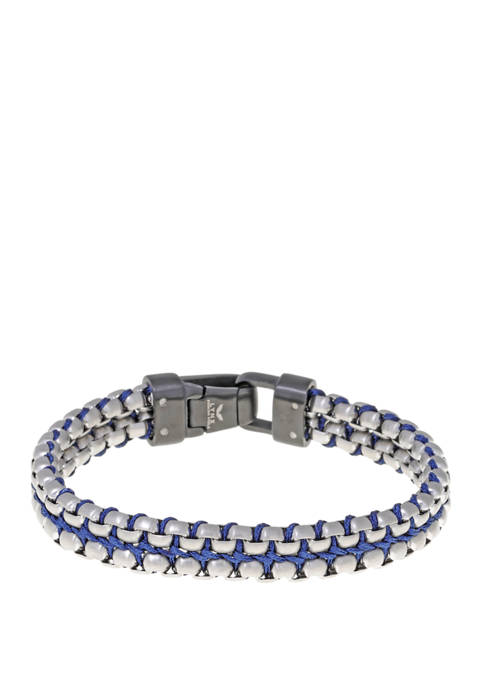 Belk & Co. Stainless Steel and Cord Bracelet