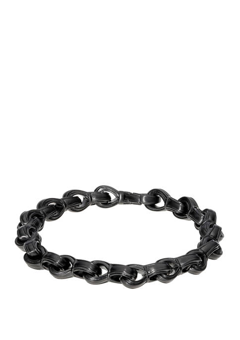 Stainless Steel Bracelet with Matte Black IP