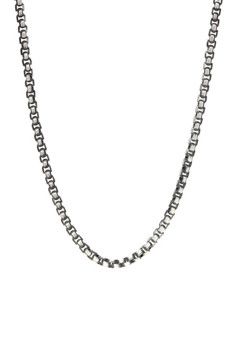 Stainless Steel 24 Inch Chain Black IP Plated