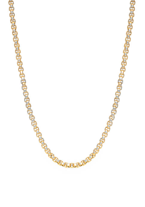 Stainless Steel 24 Inch Chain Gold IP Plated