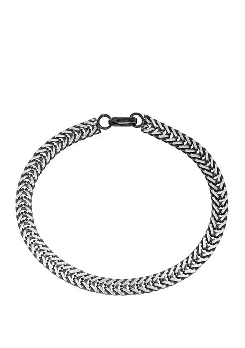 8.5 Inch Stainless Steel Chain Bracelet with Black IP