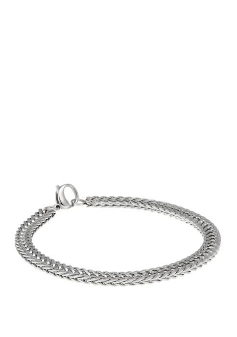 Belk & Co. 8.5 Inch Stainless Steel Bracelet