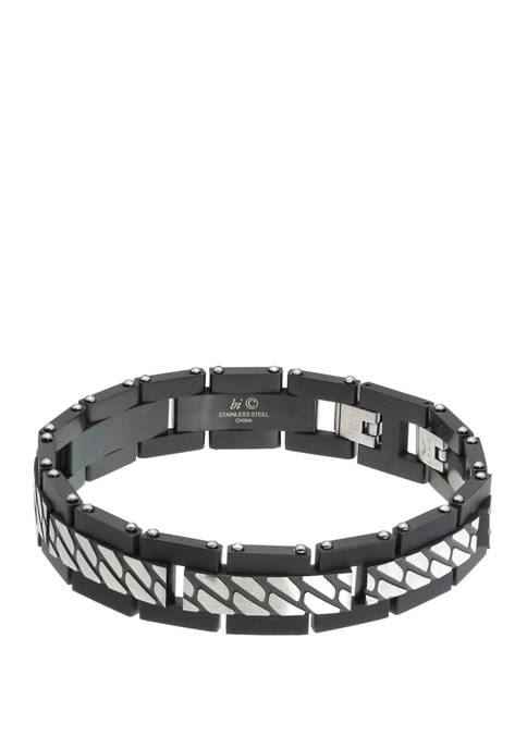 Belk & Co. Stainless Bracelet with Bip Textured