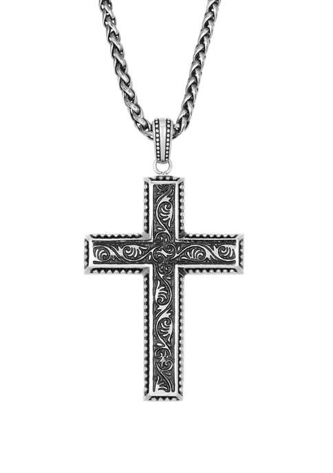 Belk & Co. Stainless Steel Antique Finish Cross