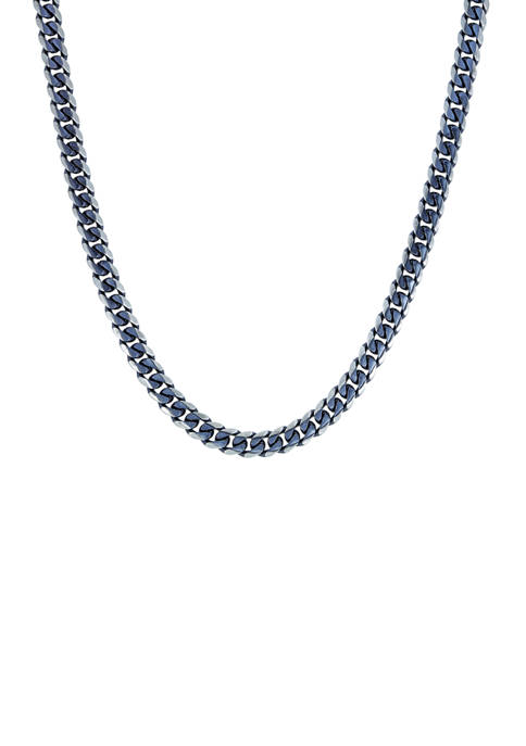 Stainless Steel 8 Millimeter Curb Chain Necklace
