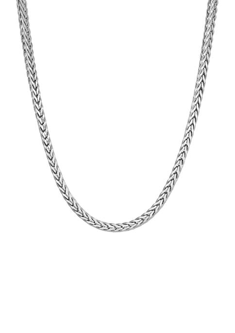 Stainless Steel 3.5 Millimeter Foxtail Chain Necklace, 24 Inch