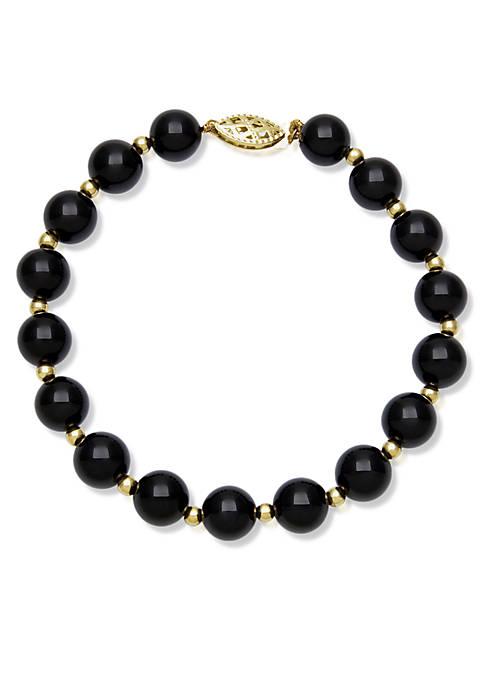 10k Yellow Gold Onyx Bracelet