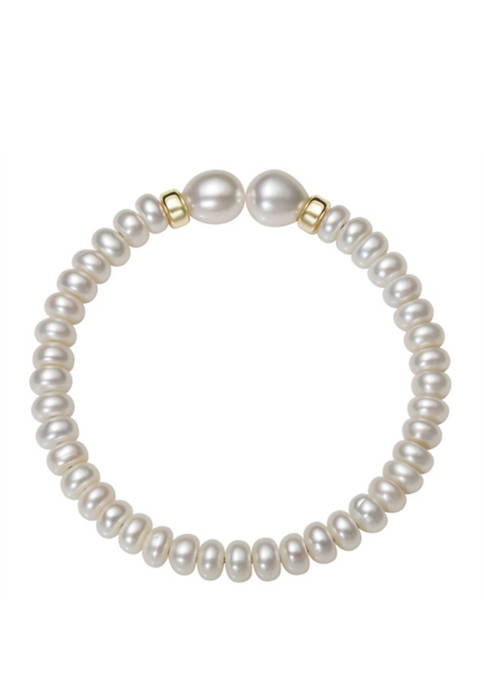 Belk & Co. White Cultured Freshwater Pearl Stretch