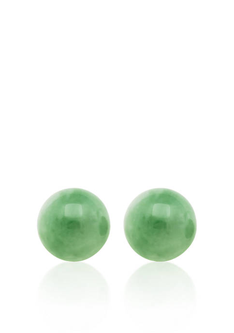 Belk & Co. 14k Yellow Gold Jade Stud