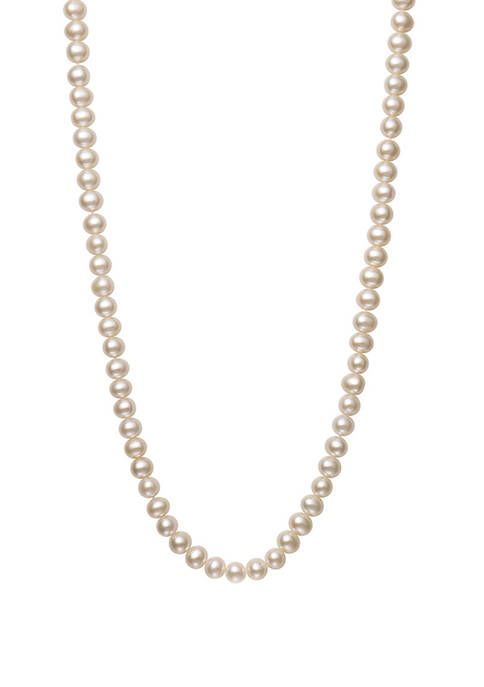 7-8 Millimeter Cultured Freshwater Pearl Endless Necklace