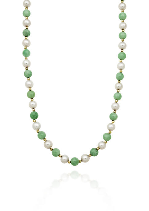 Belk & Co. 14k Yellow Gold Jade and