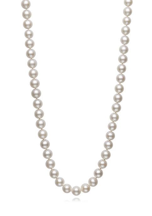 8.5-9.5 Millimeter A Quality Cultured Freshwater Pearl 20 Inch Strand Necklace in 14K Yellow Gold