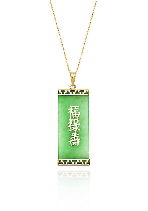 Belk & Co. 10k Yellow Gold Jade Pendant