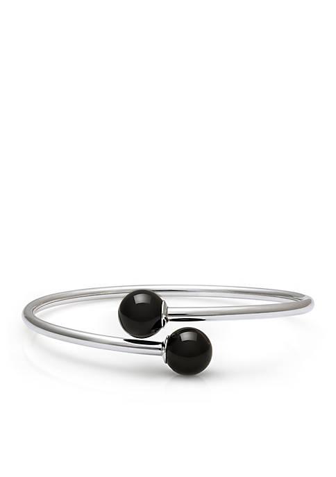 Sterling Silver Onyx Flex Bracelet