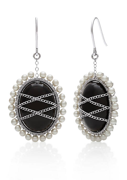 Belk & Co. Sterling Silver Black Onyx and