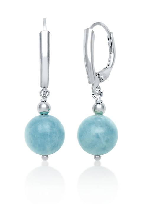 Sterling Silver Milky Aquamarine Earrings