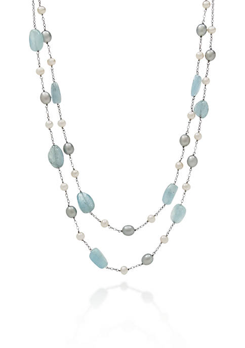 Belk & Co. Sterling Silver Milky Aquamarine and