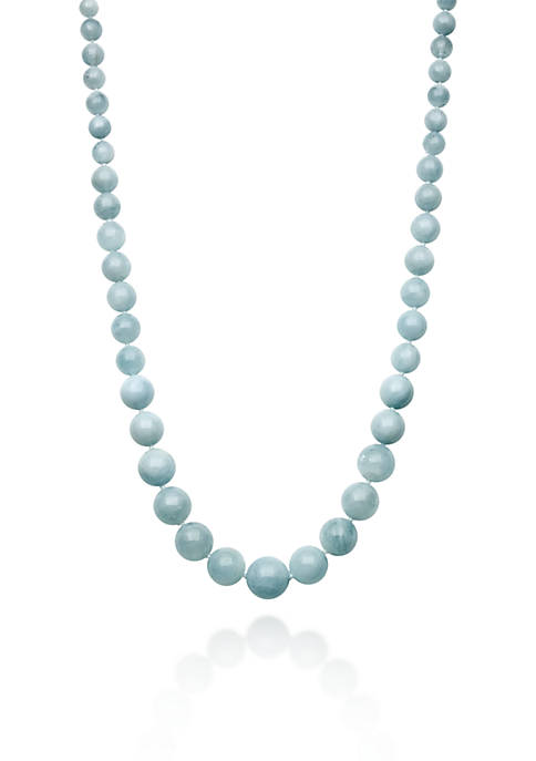 Sterling Silver Milky Aquamarine Necklace