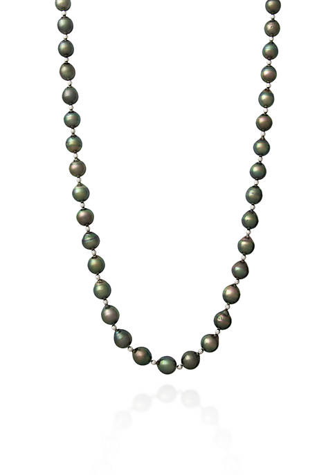 Belk & Co. Sterling Silver Tahitian Pearl Necklace