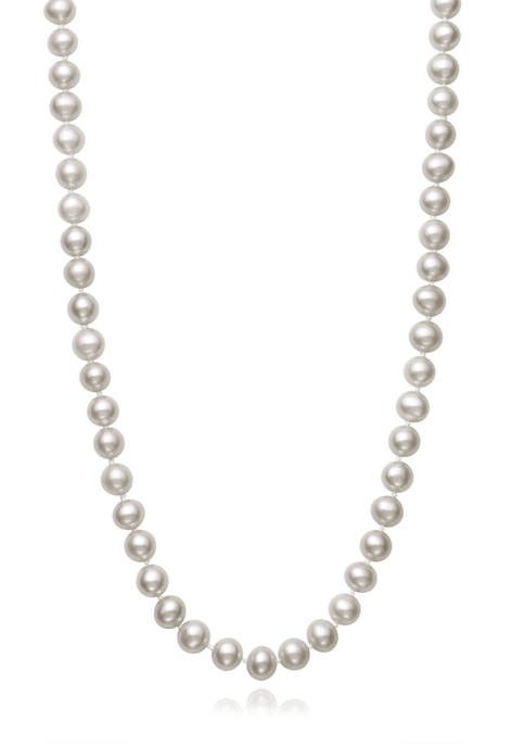 5-6 Millimeter Cultured Freshwater Pearl 16 Inch Strand Necklace in Sterling Silver