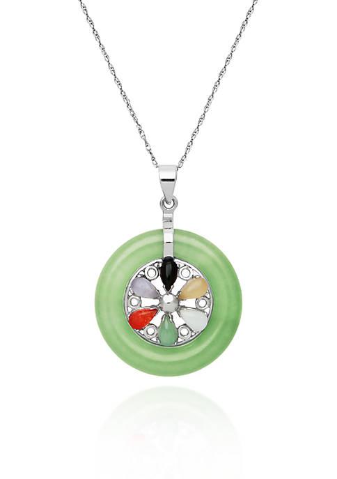 Belk & Co. Sterling Silver Multi Color Jade
