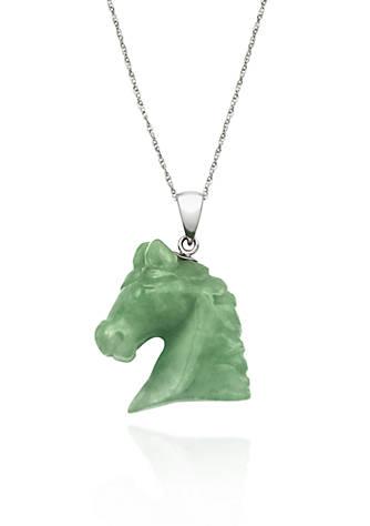 Belk co sterling silver jade horse pendant belk sterling silver jade horse pendant aloadofball Choice Image