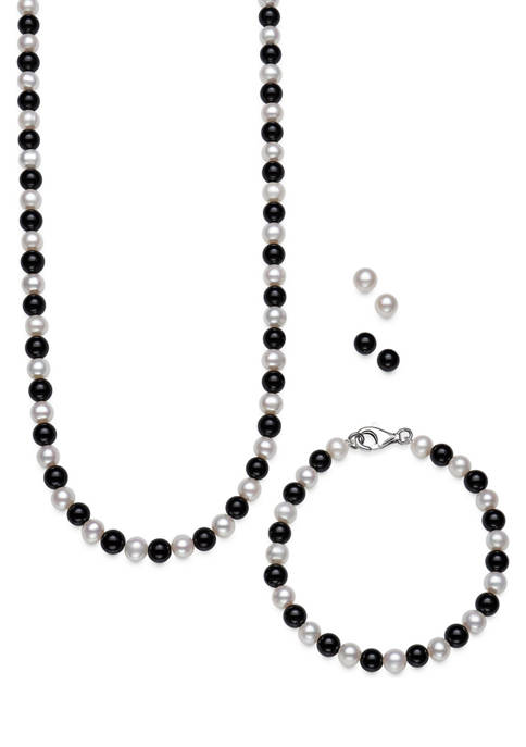 Amour de Pearl Cultured Freshwater Pearl And Onyx