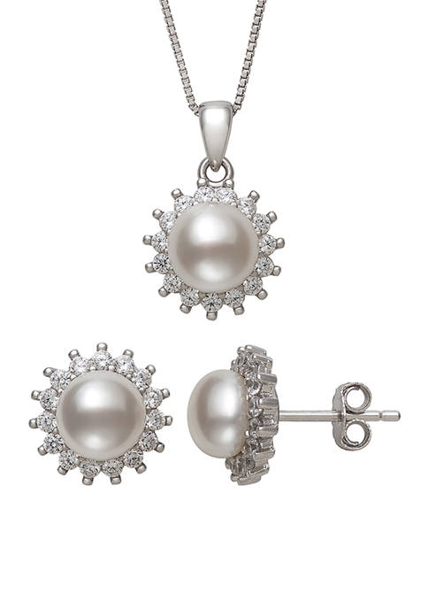 Belk & Co. White Cultured Freshwater Pearl and