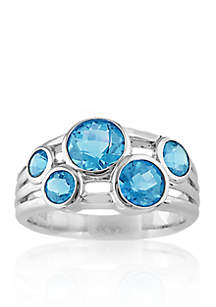 Sterling Silver Blue Topaz Band Ring