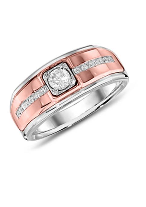 Diamour Mens 1/2 ct. t.w. Round Diamond Ring