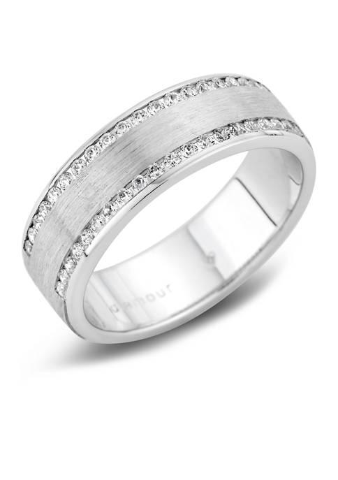 Diamour Mens 1/2 ct. t.w. Round-Cut Diamond Wedding