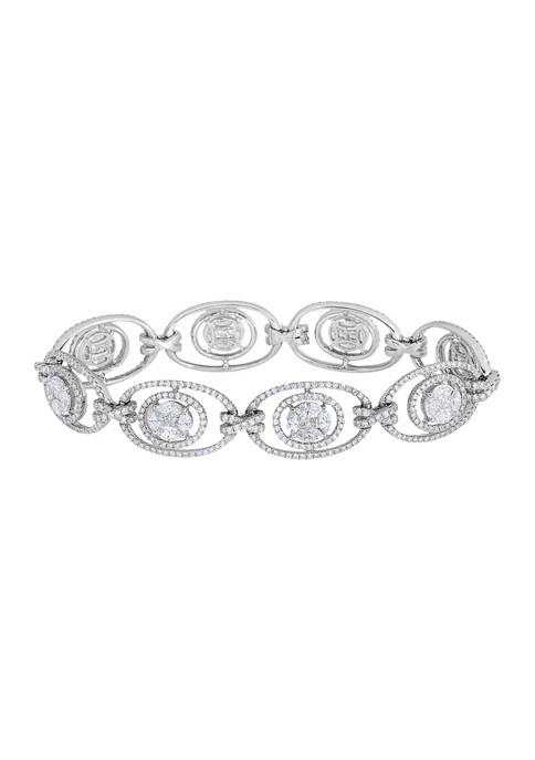 Diamour 7.50 ct. t.w. Multi-Shape Diamond Tennis Bracelet