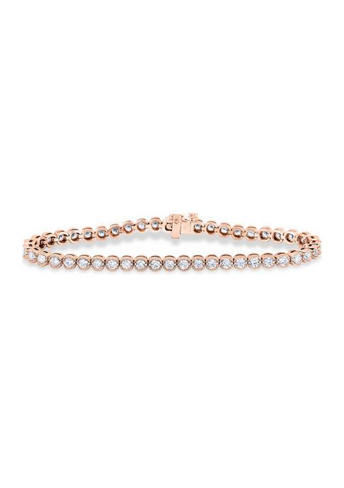 Diamour 5 ct. t.w. Diamond Vintage-Style Tennis Bracelet