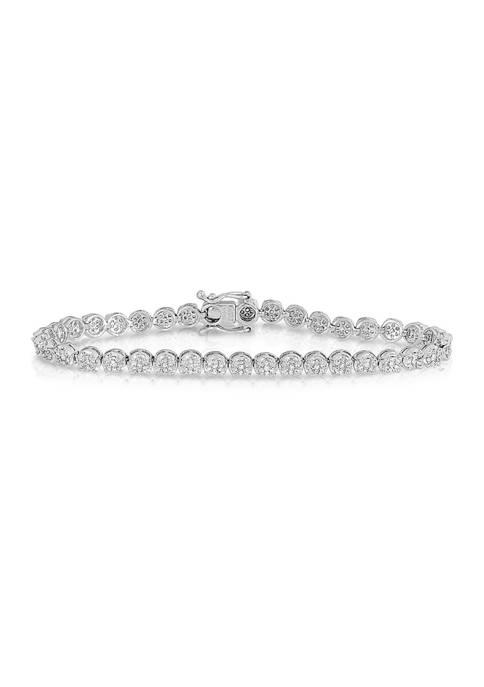 Diamour 1.0 ct. t.w. Round-cut Diamond Tennis Bracelet