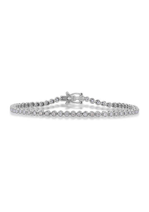 Diamour 1.0 ct. t.w. Diamond Tennis Bracelet in