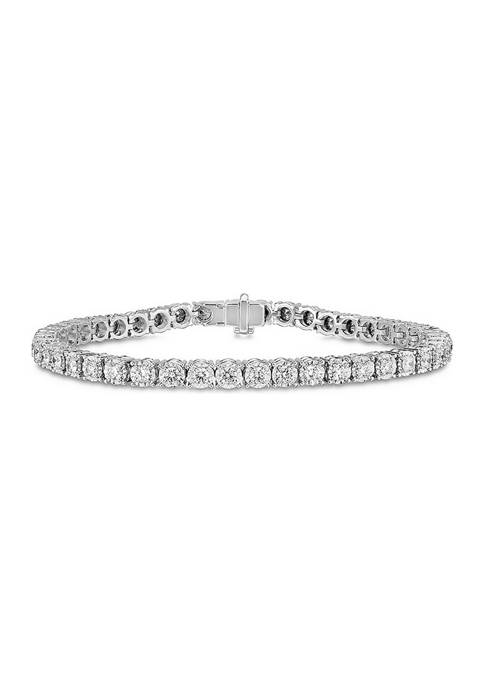 1 ct. t.w. Round Diamond Tennis Bracelet in 14K White Gold (I/I3)