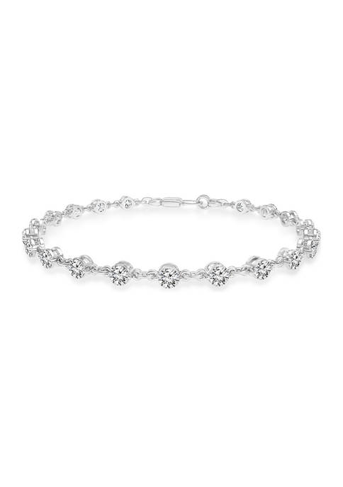 3 ct. t.w. Round Cut Diamond Bracelet in 14K White Gold