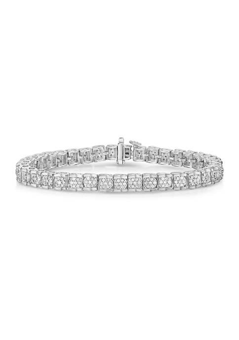 Diamour 1 ct. t.w. Diamond Cluster Tennis Bracelet