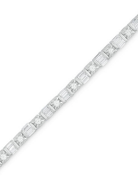Diamour 1 ct. t.w. Baguette and Round Diamond