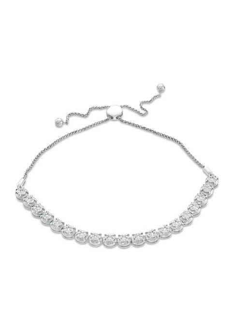 1 ct. t.w. Composite Diamond Bolo Bracelet in Sterling Silver