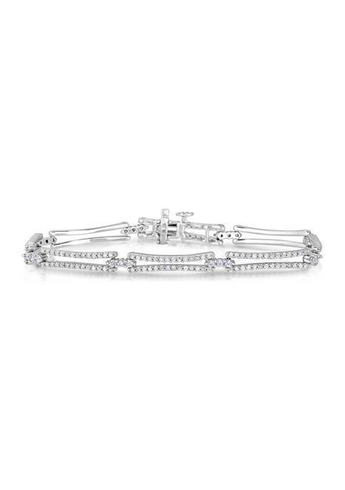 2 ct. t.w. Round Cut Diamond Fashion Bracelet in 10K White Gold