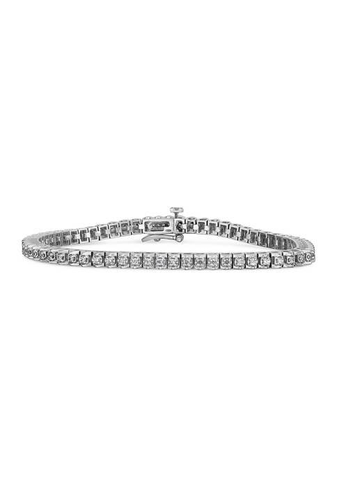 Diamour 1 ct. t.w. Round-Cut Diamond Bracelet in
