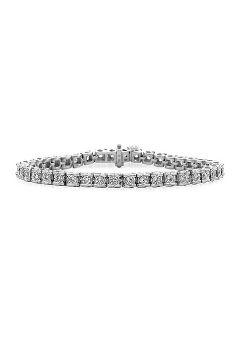 2 ct. t.w. Round Cut Diamond Tennis Bracelet in 14K White Gold