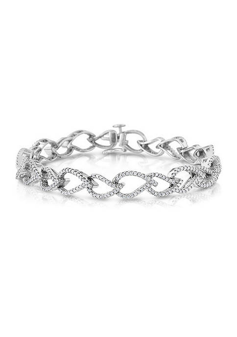 1.5 ct. t.w. Round-Cut Diamond Bracelet in 14K White Gold (I/I2)