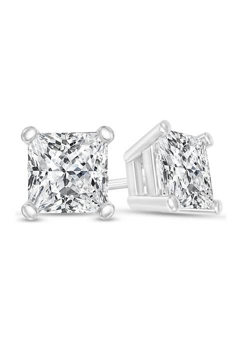 Diamour 1/2 ct. t.w. Certified Princess-Cut Diamond Solitaire