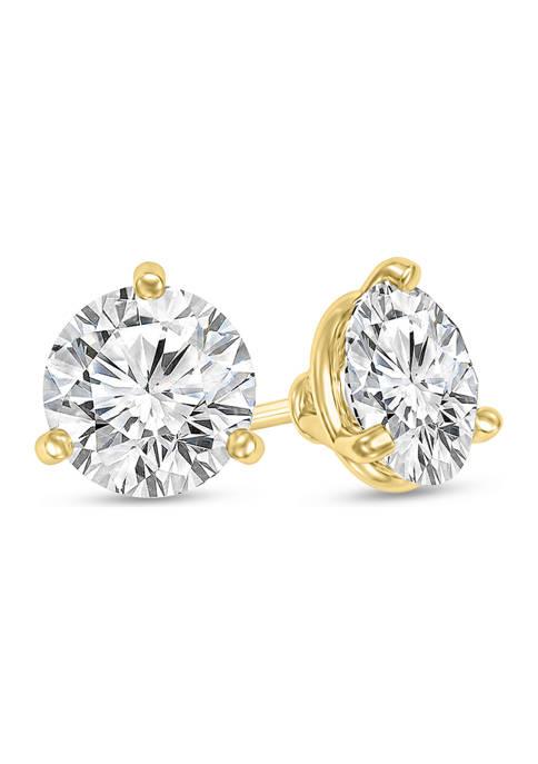 1/2 ct. t.w. Certified Diamond Solitaire Stud Earrings in 14K Gold (I/VS2)
