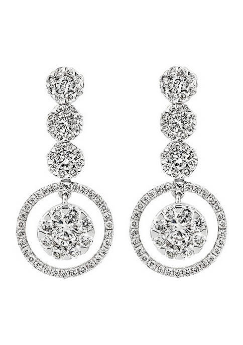 Diamour 1.75 ct. t.w. Round-Cut Diamond Earrings in