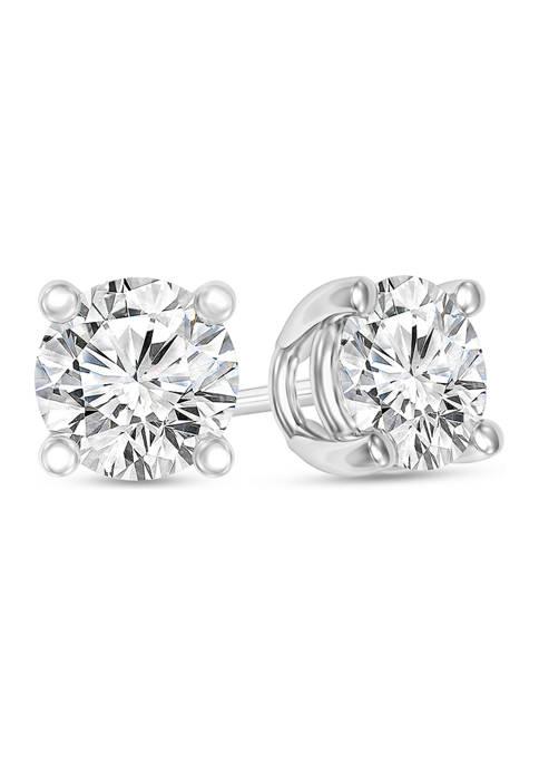 1/4 ct. t.w. Certified Diamond Solitaire Stud Earrings in 14K White Gold ( I/VS2)