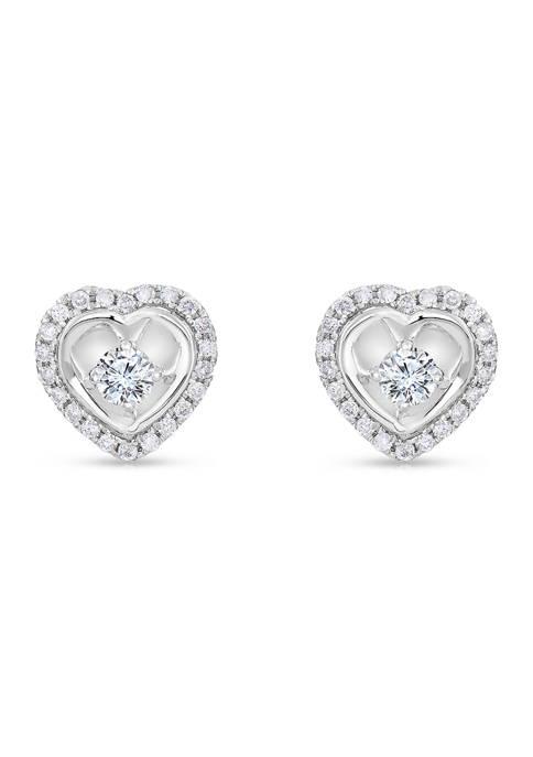 Diamour 1/2 ct. t.w. Round Cut Diamond Heart