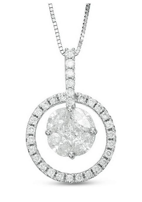 Diamour 1 ct. t.w. Marquise and Princess-Cut Diamond